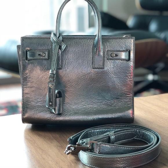 b43d9b020d7 Yves Saint Laurent Bags | Sac De Jour Ysl Mini Metallic Leather Tote ...